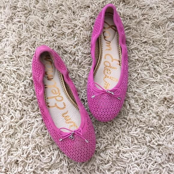 63bcc1e85  Sam Edelman  Felicia Ballet Flats Hot Pink